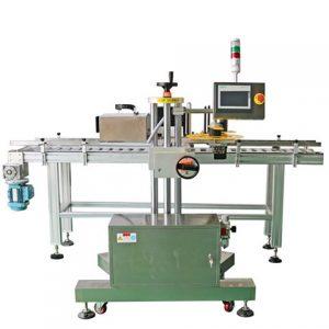 Automatisk inpackning av rund flaskmärkningsmaskin