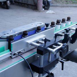 Automatiska vertikala runda flaskdekaler märkningsmaskindetaljer
