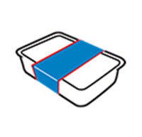 Etiketter för flera sidor (en etikett)